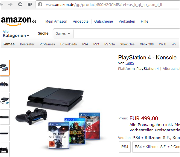 playstation 4 gewinnspiel amazon. Black Bedroom Furniture Sets. Home Design Ideas