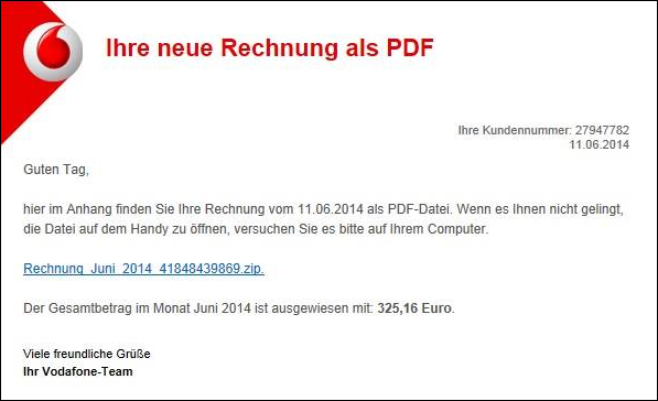 trojaner warnung vodafone e mail mit ihre neue rechnung als pdf mimikama. Black Bedroom Furniture Sets. Home Design Ideas