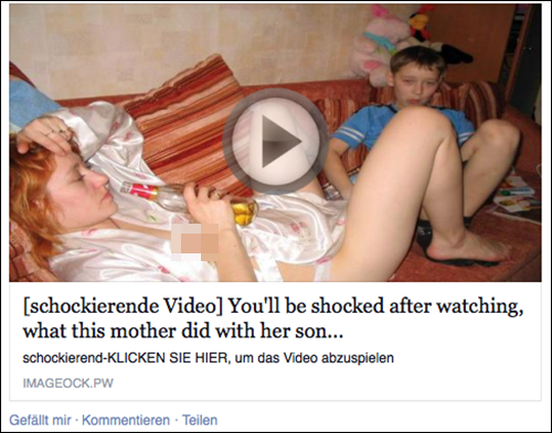 "Aufklärung zu dem Video ""…what this mother did with her son"""