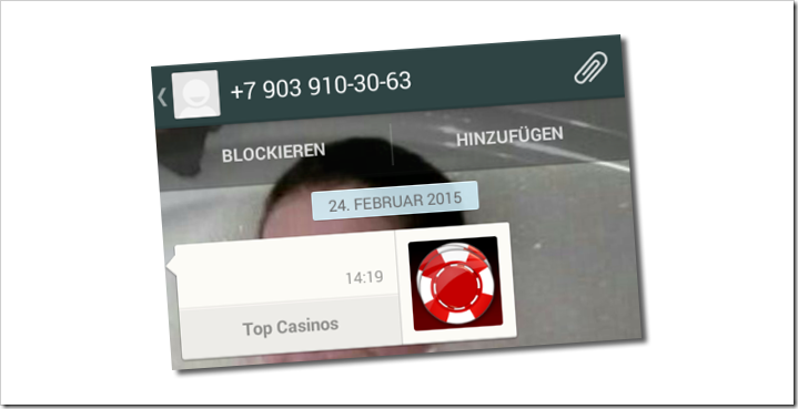 top casinos whatsapp