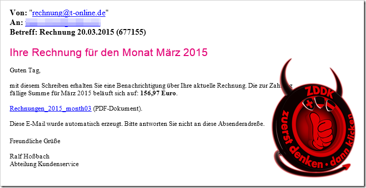 viruswarnung telekom rechnung f r den monat m rz 2015. Black Bedroom Furniture Sets. Home Design Ideas