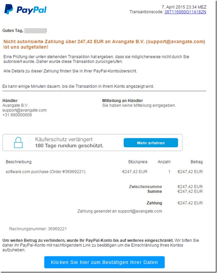 Paypal Offene Zahlung Dauer