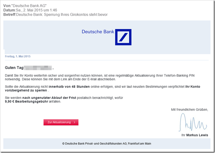 Demokonto Deutsche Bank