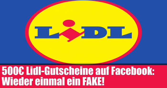 500 lidl gutscheine auf facebook wieder einmal ein fake mimikama. Black Bedroom Furniture Sets. Home Design Ideas