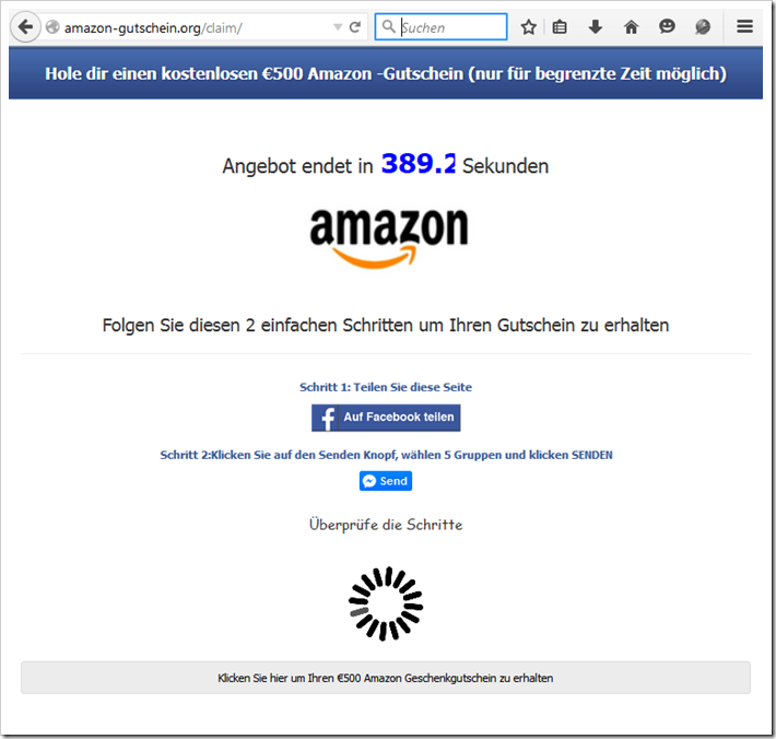 Amazon gutschein facebook hoax