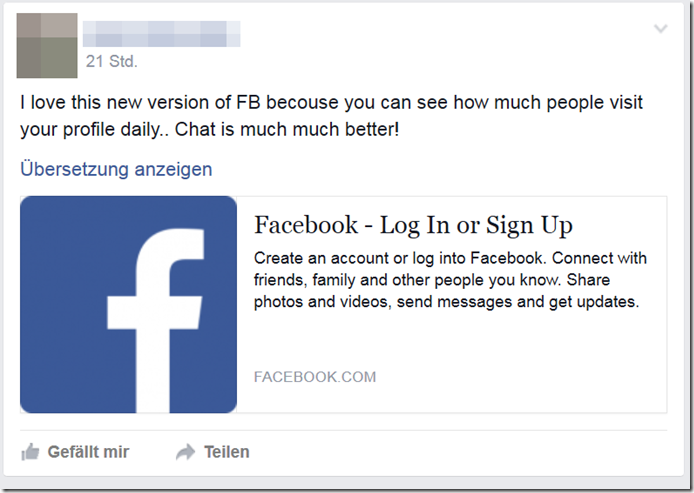 facebook login knacken