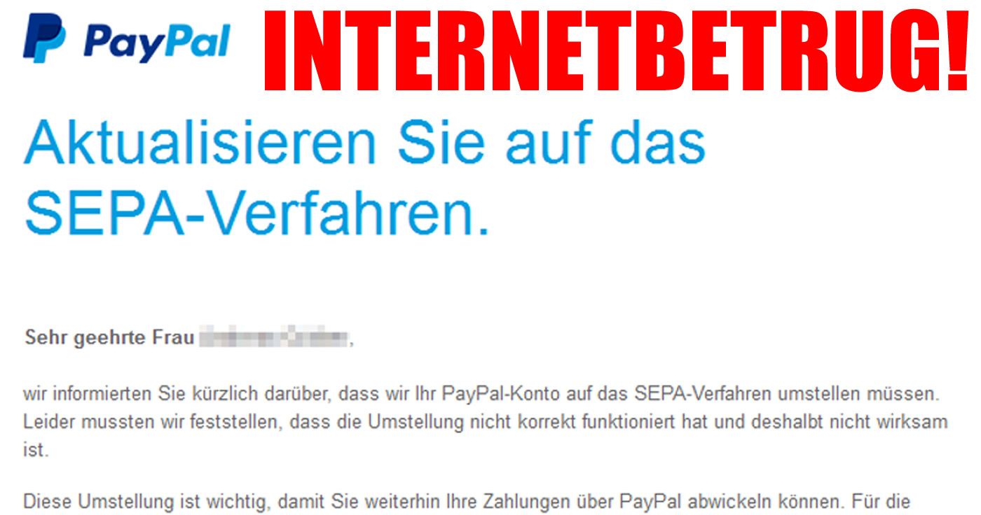 paypal betrugsmail melden