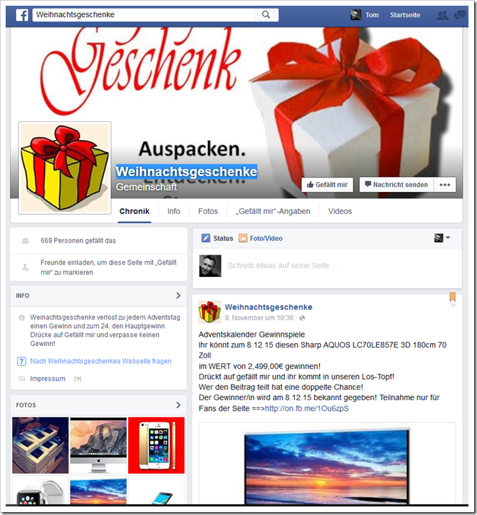 adventskalender gewinnspiele facebook. Black Bedroom Furniture Sets. Home Design Ideas