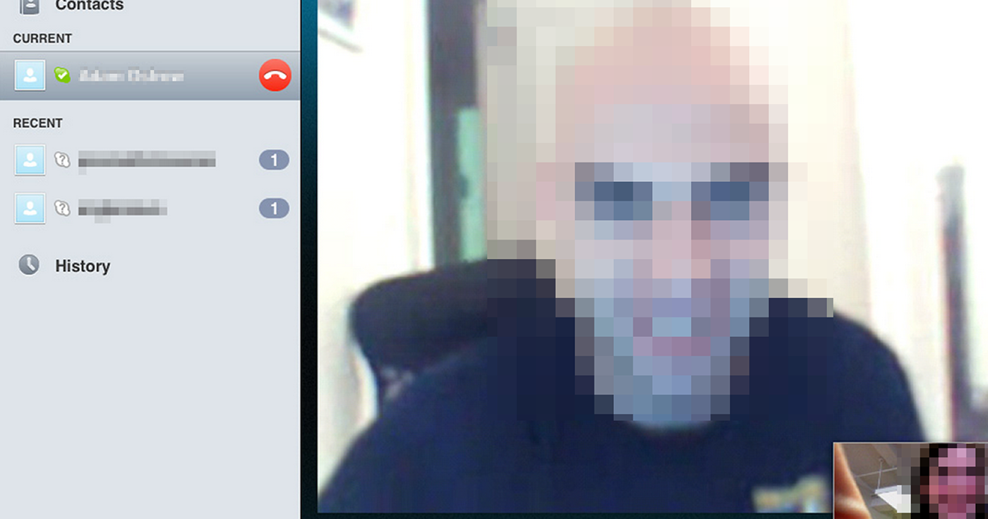 How to view pictures taken on skype