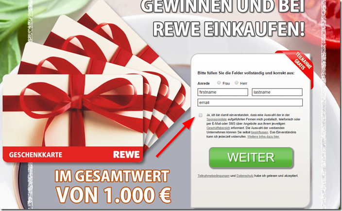 rewe gutschein gewinnspiel im newsletter mimikama. Black Bedroom Furniture Sets. Home Design Ideas