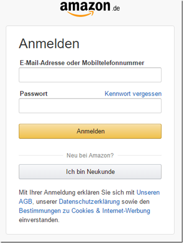 Amazon Falsche Adresse