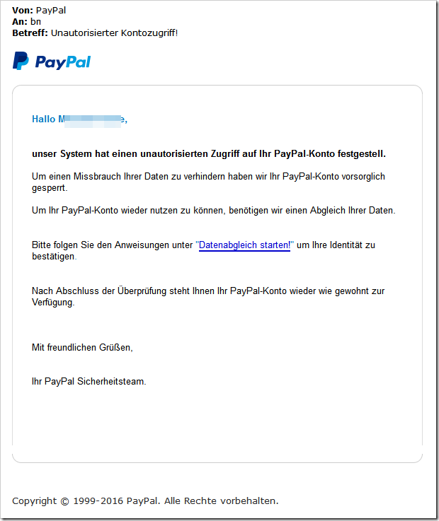 perfides paypal phishing mit angeblicher eventim rechnung. Black Bedroom Furniture Sets. Home Design Ideas