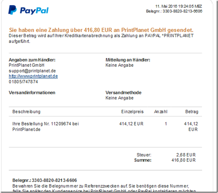 Extensions paypal rechnung