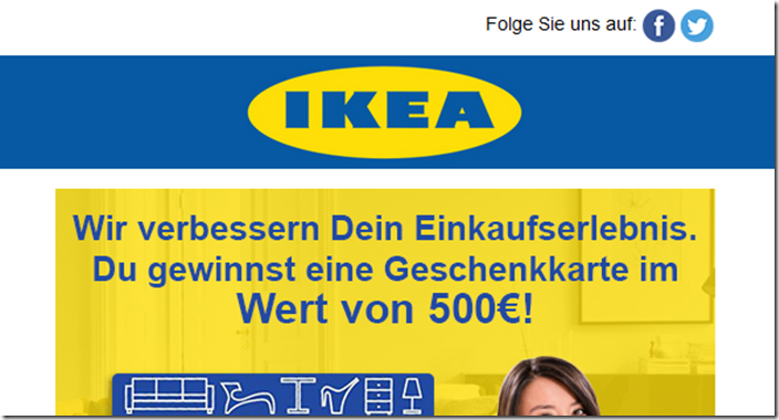 werbespielchen mit ikea logo mimikama. Black Bedroom Furniture Sets. Home Design Ideas