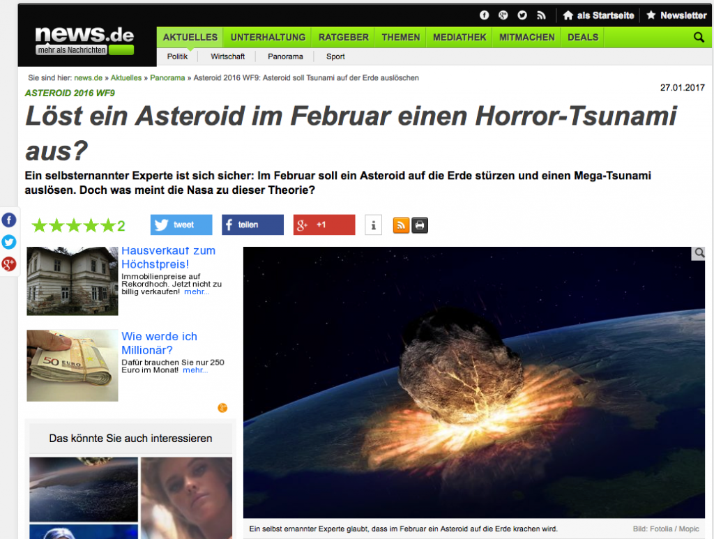 Screenshot: www.news.de