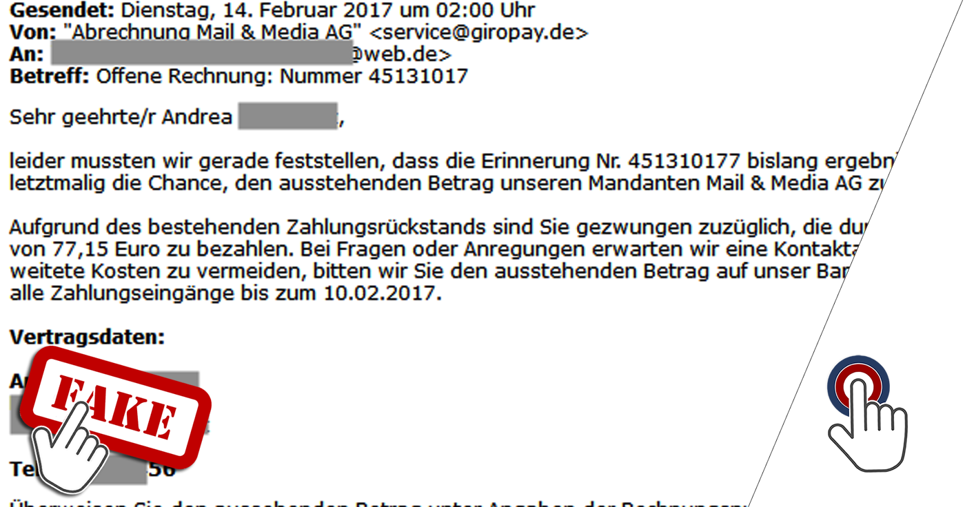 Giropay Fake Mail