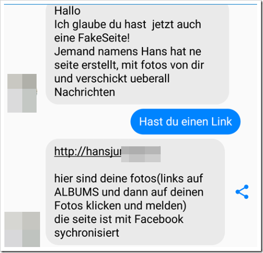 Facebook-Messenger Chatverlauf