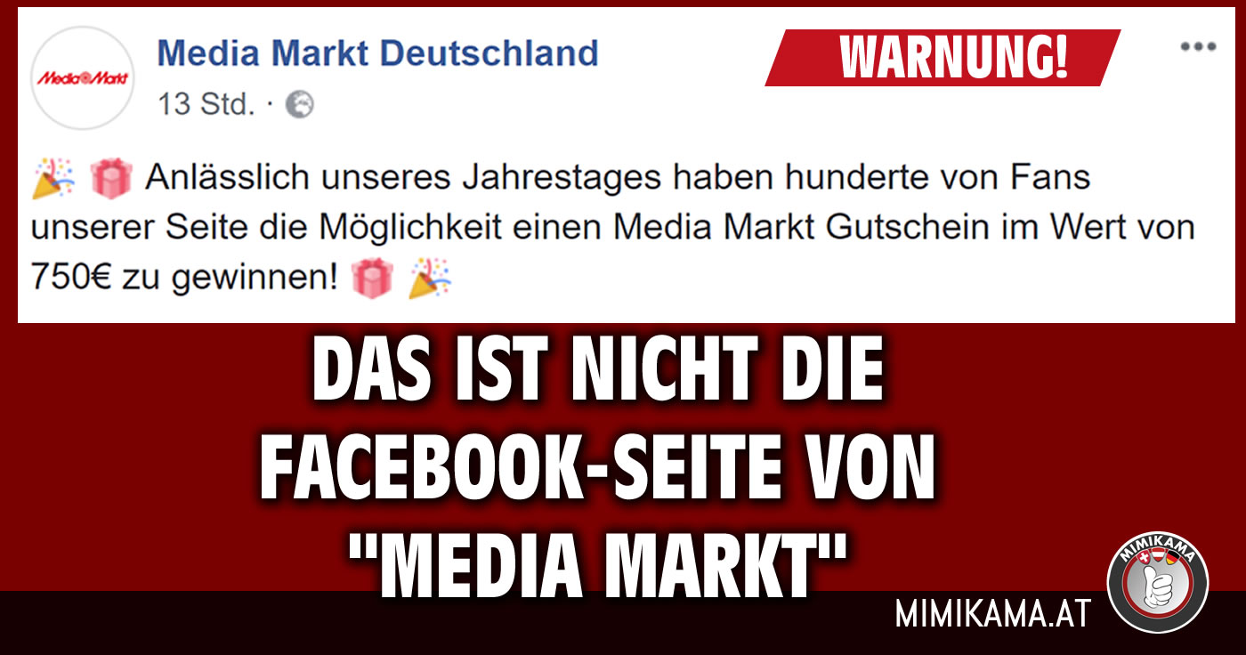 facebook falsche media markt deutschland seite lockt. Black Bedroom Furniture Sets. Home Design Ideas