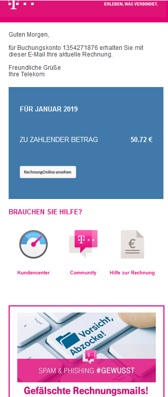 phishing gef lschte telekom rechnung mit trojaner. Black Bedroom Furniture Sets. Home Design Ideas