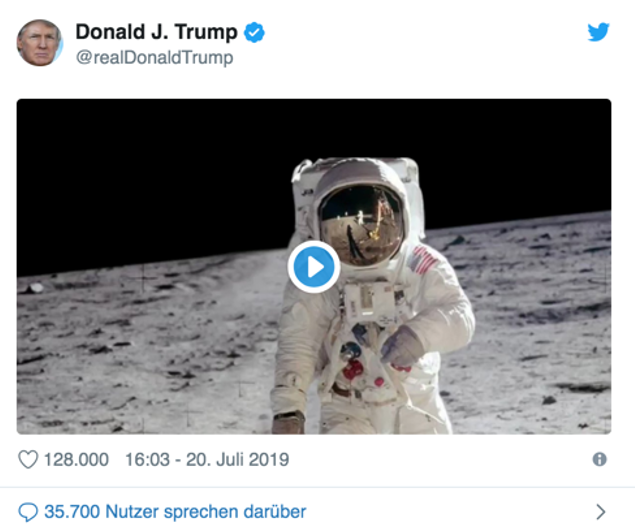 Screenshot von dem Twitteraccount von Donald Trump