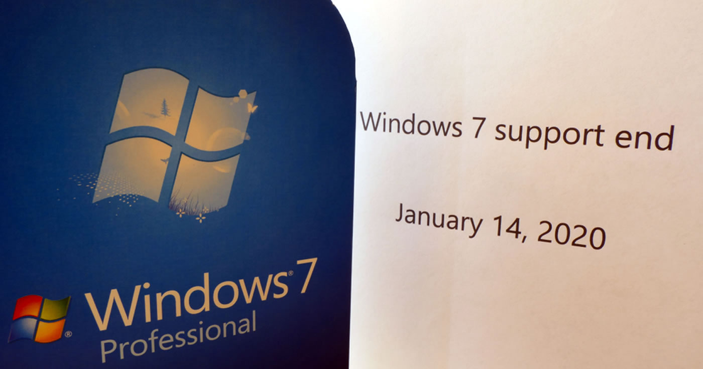 Support-Ende für Windows 7 am 14. Januar 2020