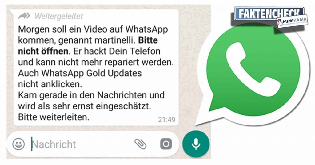 Martinelli & WhatsApp Gold Warnung