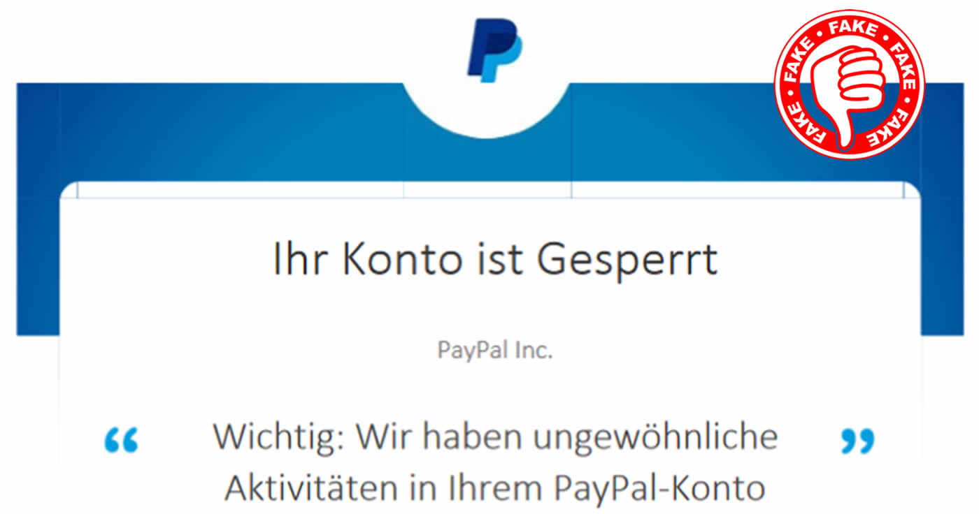 Spoof Paypal Melden