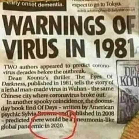 """Warnings of Virus in 1981"""