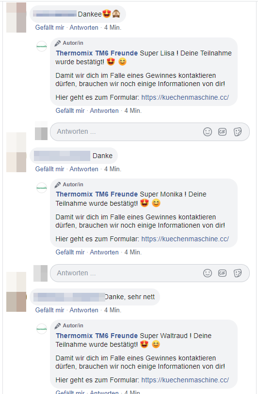 Screenshot: Facebook-Seite