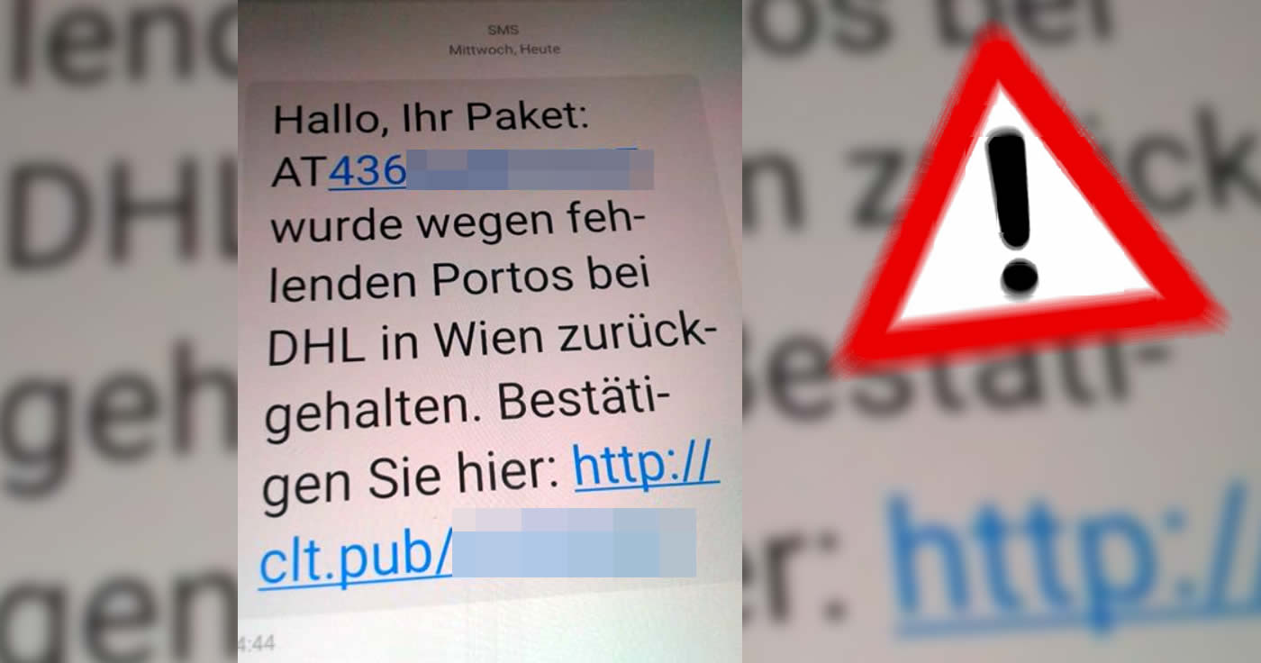 Falsche DHL-SMS lockt in Abo-Falle