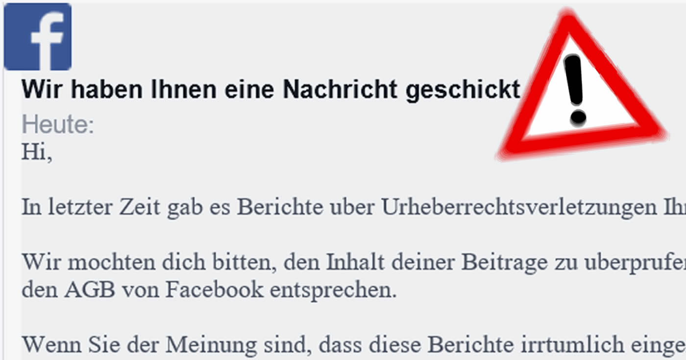 Phishing-Falle: die Email vom Facebook Helpcenter