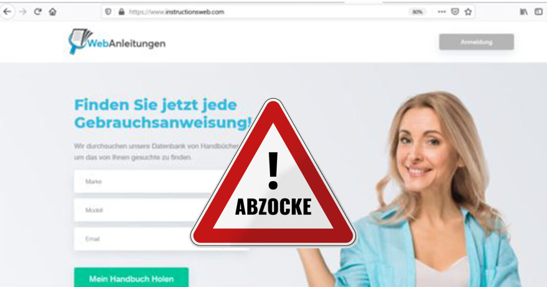 instructionsweb. com führt in Abo-Falle