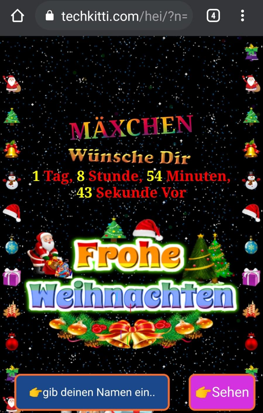 Screenshot Weihnachts-Countdown
