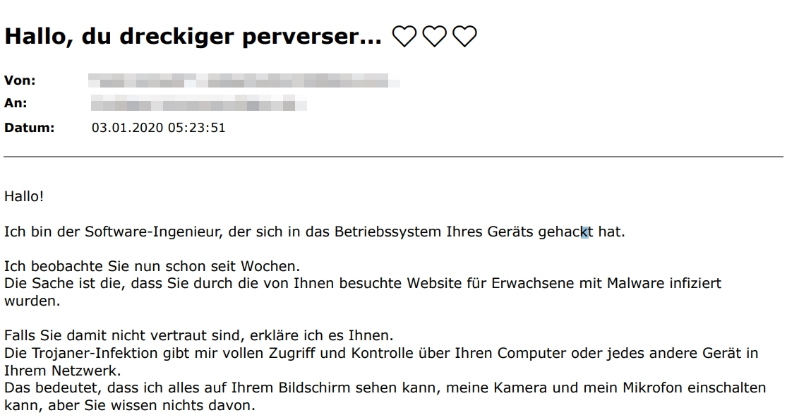 Screenshot der E-Mail